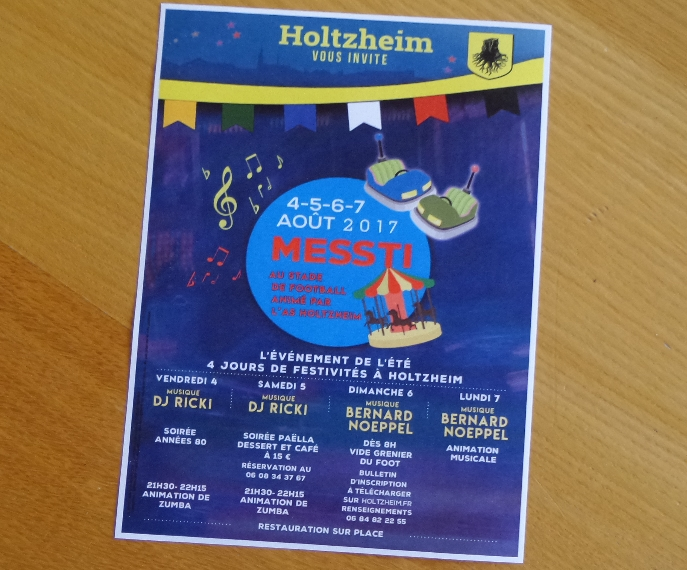 Messti Holtzheim 2017 – flyer